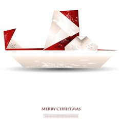 Merry christmas greeting card - with santa claus vector