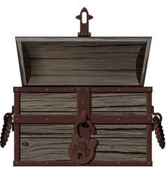 Old empty open chest vector
