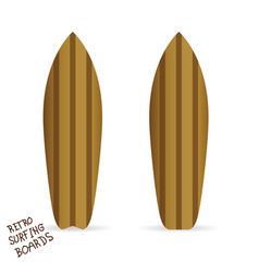 Retro surfing boards vector