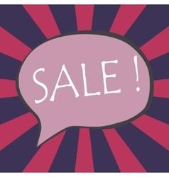 Sale wording in comic bubble speech vector