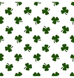 Seamless clover leaves background St Patricks vector image