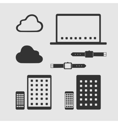Set of Symbols Mobile Technology vector image vector image