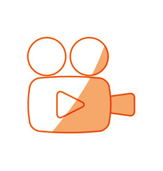 Silhouette camcorder symbol icon design vector