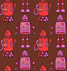 Sketch robot in vintage style vector image