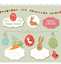 Easter set easter elements vector