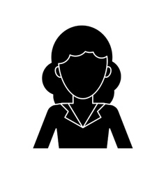 Silhouette woman professional work office vector