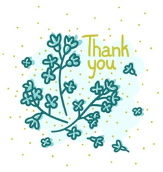 Floral thank you vector image