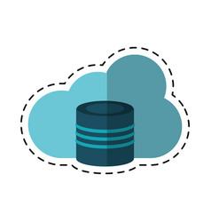 cartoon cloud data base technology vector image