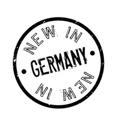 new in germany rubber stamp vector image