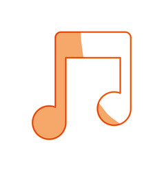 silhouette music symbol icon design vector image