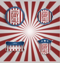Realistic 4th of july banners set vector