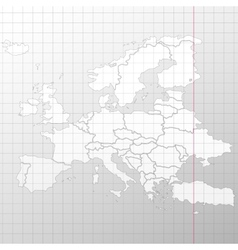 Europe map in a cage on white background vector