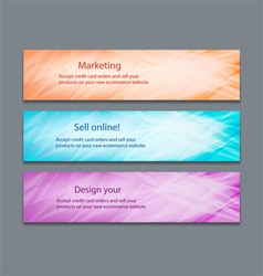 Website header or banner set with beautiful design vector