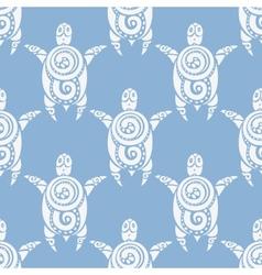 Sea turtles seamless pattern vector