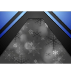 Dark abstract blurred Christmas background vector image