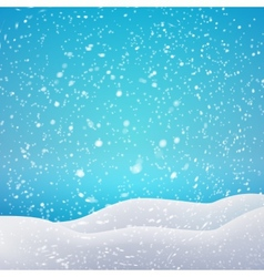 Snowfall and drifts concept for your artwork vector