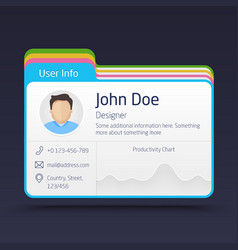 User Info Card vector image