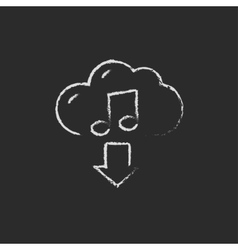 Download music icon drawn in chalk vector
