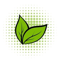 Plant seedling comics icon vector