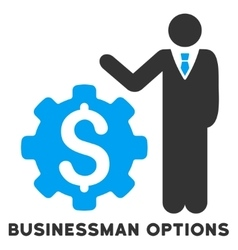 Businessman options icon with caption vector