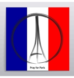 Pray for paris 13 november 2015 abstract vector