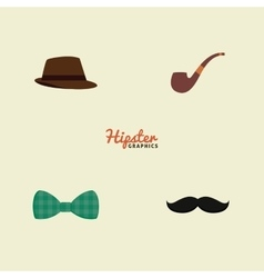 Abstract hipster objects vector