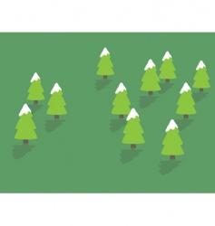 Snowy trees vector