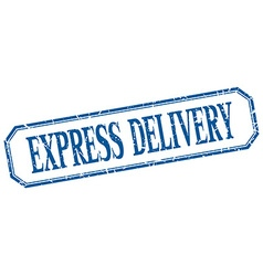Express delivery square blue grunge vintage vector