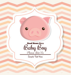 baby shower card design vector image