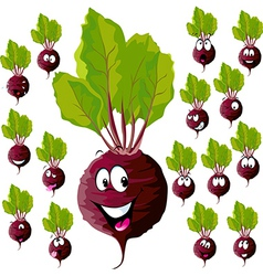 Beetroot with many expressions vector