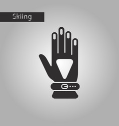 Black and white style icon glove vector