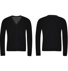 Black cardigan vector