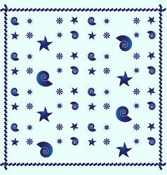 blue sea abstract pattern background vector image vector image