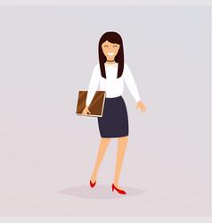 business woman character flat design modern vector image