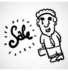 Cartoon Doodle Businessman vector image vector image