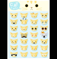 Cat emoji icons 2 vector image