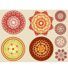 circular arabesques vector image vector image
