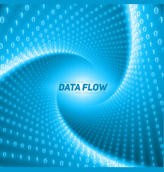 data flow visualization blue flow of vector image vector image