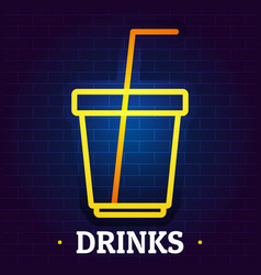 Drinks signboard logo flat style vector