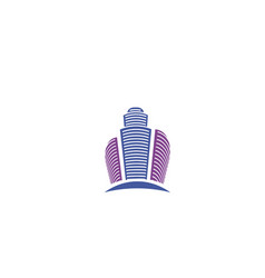 isolated abstract violet color city skyscraper vector image