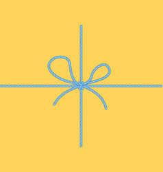 Knot on package vector