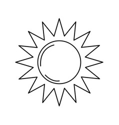 Line sun light to sunny weather on vacation vector