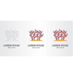 logo coral vector image vector image