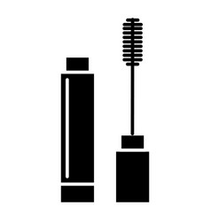 mascara icon black sign on vector image vector image