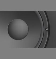 musical speaker modern acoustic on white vector image