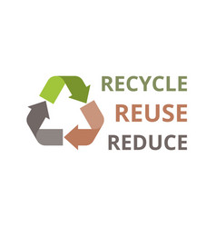 recycle icon flat design vector image vector image