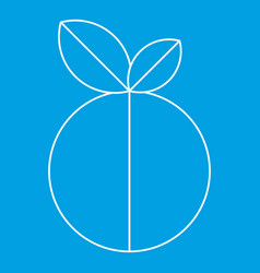 Round apple icon outline style vector