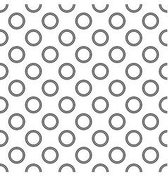 Seamless monochrome circle pattern - background vector