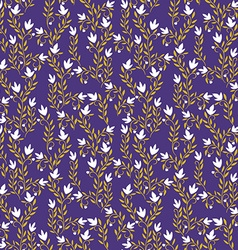 Seamless patterned purple floral background vector
