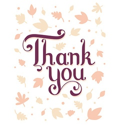 Thanksgiving with text thank you and autumn vector